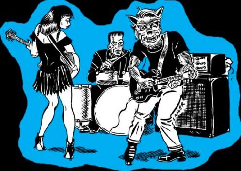 Monster band T-Shirt design for Manx Media